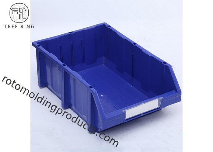 Heavy Duty Standing Plastic Bin Boxes , Hardware Storage Bins For