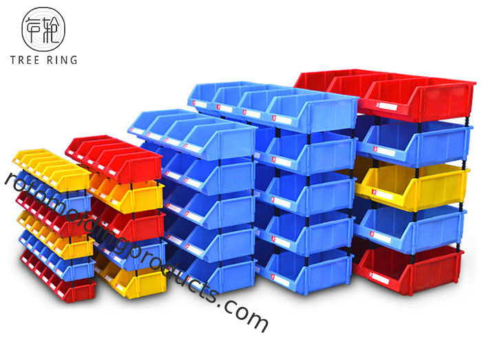 Heavy Duty Standing Plastic Bin Boxes , Hardware Storage Bins  For Spare Parts