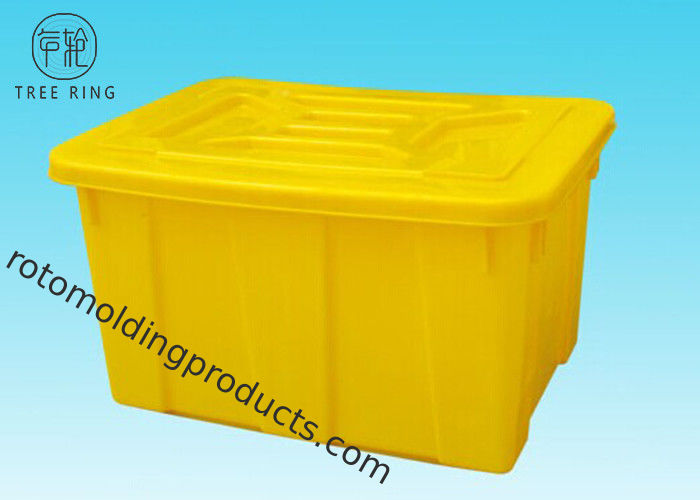Beautiful Commercial Colored Plastic Storage Totes With Lids / Cover Stacking And  Nesting