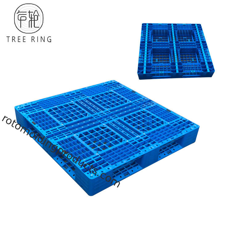 Full Perimeter Runner HDPE Plastic Pallets , Recycled Plastic Pallets For Stacking Option