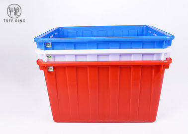 China W140 Textile Plastic Bin Boxes , Blue /  Red Industrial Stacking Large Plastic Tubs factory