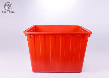 China Large Solid Nesting Plastic Bin Boxes , Red / Blue Plastic Storage Containers Recycling factory