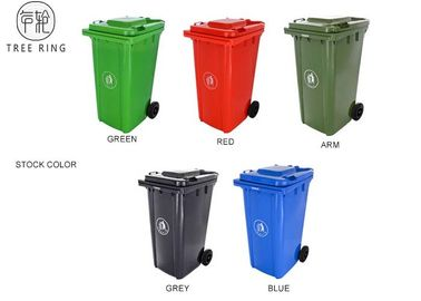 China Sturdy Refuse Green 240ltr Plastic Rubbish Bins With Two Rubber Wheels HDPE factory