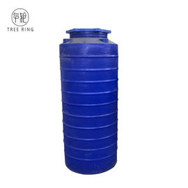 China Blue Color Round 250 Gallon Plastic Water Storage Tanks For Liquid Feed Storage factory