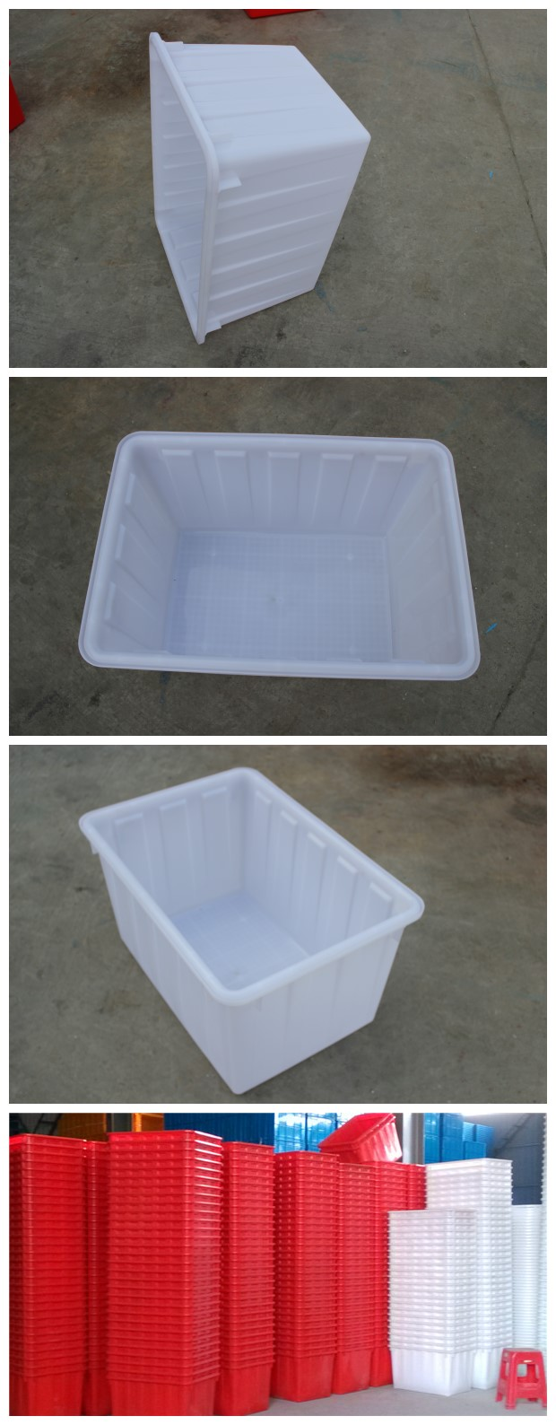 W120l Printed Stackable Strong Plastic Storage Containers