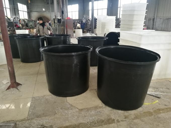 Nestable Cylindrical Large Plastic Water Aquaculture Tubs